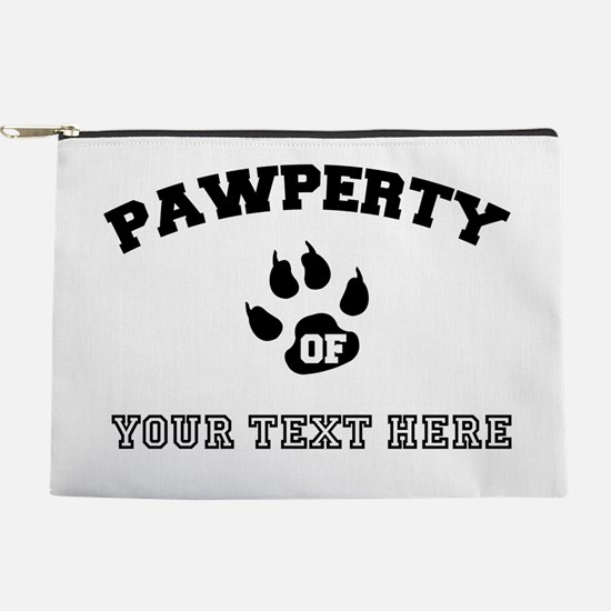 Personalized Cat Pawperty Makeup Pouch