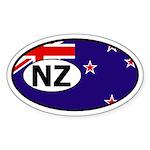 New Zealand flag Oval Sticker