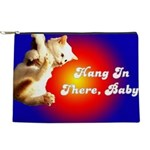 FIN-hang-in-there-10x10 Makeup Pouch