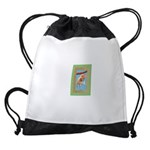 FIN-hang-in-there-baby-greeting Drawstring Bag