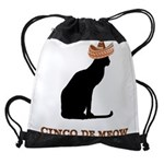 FIN-cinco-de-meow Drawstring Bag