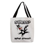 FIN-stress-cat... Polyester Tote Bag