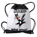 FIN-stress-cat... Drawstring Bag