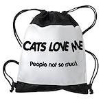 FIN-cats-love-me.pn... Drawstring Bag