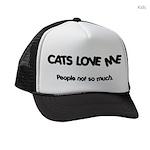 FIN-cats-love-me.pn... Kids Trucker hat
