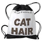 FIN-cat-hair-access... Drawstring Bag