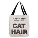 FIN-outfit-cat-hair... Polyester Tote Bag