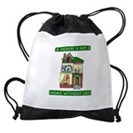 FIN-cats-house-home Drawstring Bag
