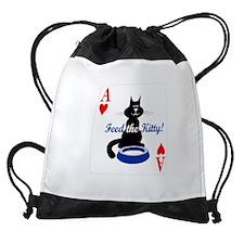 feed-the-kitty-poker Drawstring Bag