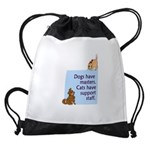 cats-support-staff Drawstring Bag