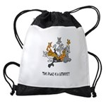 cathouse Drawstring Bag