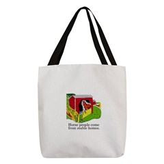 Horse People Stable Homes Polyester Tote Bag