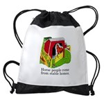 Horse People Stable Homes Drawstring Bag
