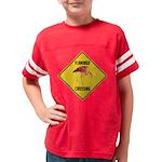 Flamingo Crossing Sign Youth Football Shirt