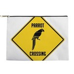 crossing-sign-parrot Makeup Pouch