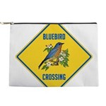 crossing-sign-bluebird-2 Makeup Pouch