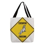 crossing-sign-cockatoo Polyester Tote Bag