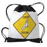 crossing-sign-cockatoo Drawstring Bag