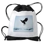 Soaring Bald Eagle Drawstring Bag