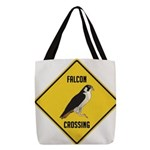 crossing-sign-falcon-2 Polyester Tote Bag