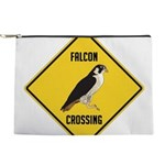 crossing-sign-falcon-2 Makeup Pouch