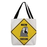 crossing-sign-macaw Polyester Tote Bag