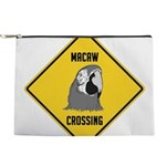 crossing-sign-macaw Makeup Pouch