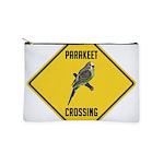 crossing-sign-parakeet Makeup Pouch