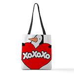 FIN-penguin-love-2-300ppi Polyester Tote Bag