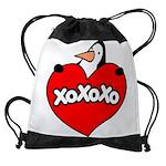FIN-penguin-love-2-300ppi Drawstring Bag