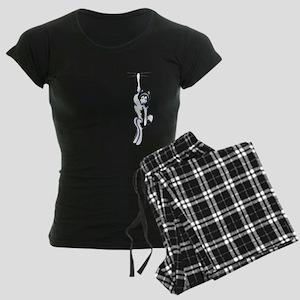 Clingy Alaskan Malamute Women's Dark Pajamas