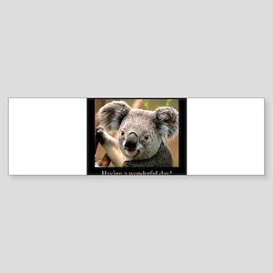 Having a wonderful day koala. Sticker (Bumper)