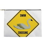 crossing-sign-swan Makeup Pouch