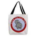 FIN-hippo-talk-tail-NEW Polyester Tote Bag