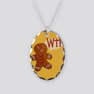 gingerbread-wtf_13-5x18 Necklace Oval Charm