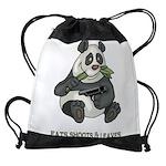 Panda Eats Shoots & Leaves Drawstring Bag
