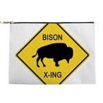 crossing-sign-bison Makeup Pouch