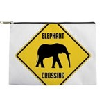 crossing-sign-elephant Makeup Pouch