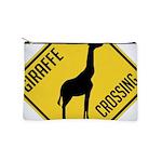 crossing-sign-giraffe Makeup Pouch