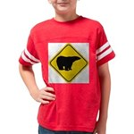 bear-crossing-sign-... Youth Football Shirt