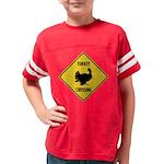 Turkey Crossing Sign Youth Football Shirt