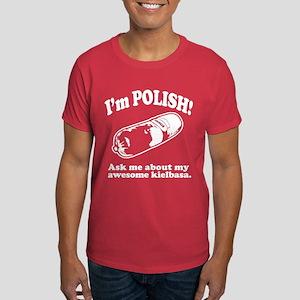 Funny! My Polish Kielbasa Dark T-Shirt