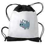 Cartoon Rhino Drawstring Bag