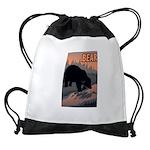 bear-CROP-text Drawstring Bag
