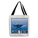 FIN-whale-save-them Polyester Tote Bag