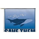 FIN-whale-save-them Makeup Pouch