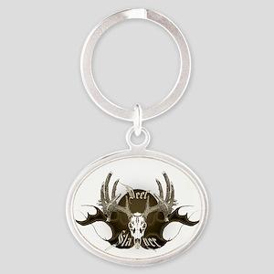 Deer slayer Oval Keychain