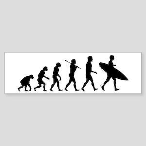 Human Surfer Evolution Sticker (Bumper)