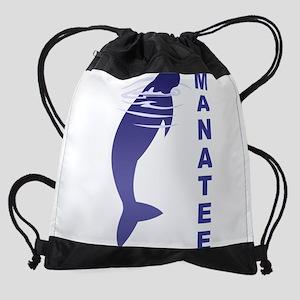 FIN-manatee Drawstring Bag