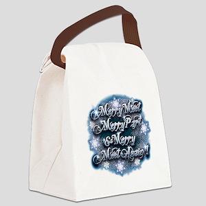 Winter Merry Meet Canvas Lunch Bag